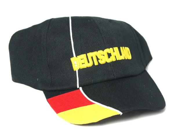 DEUTSCHLAND Fußball Fan-Cap-Kappe Fankappe schwarz NEU
